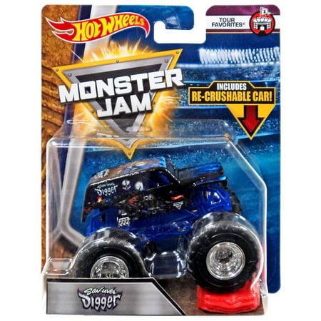 Hot Wheels Monster Jam 25 Son-Uva Digger Die-Cast (Hot Wheels Monster Jam Grave Digger 30th Anniversary)