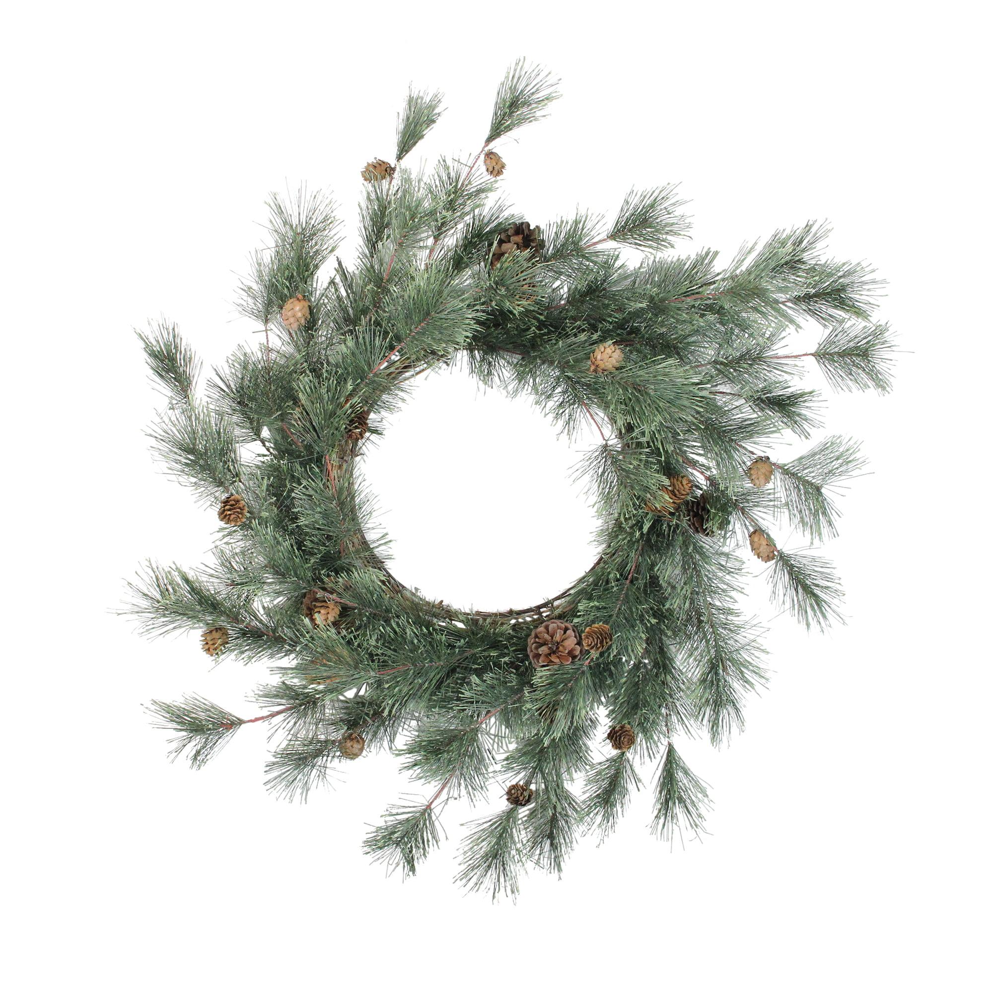 Mixed Pine Cones Artificial Christmas Wreath 26 Inch Unlit Walmart Com Walmart Com