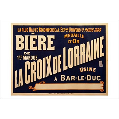 Vintage French Beer Advertising Poster 24X36 Retro Sign (Advertising Sign Beer)