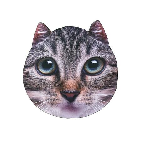 Calhoun Sportswear Sublimated Cat Head Blanket - Photorealistic Pet Throw - 60