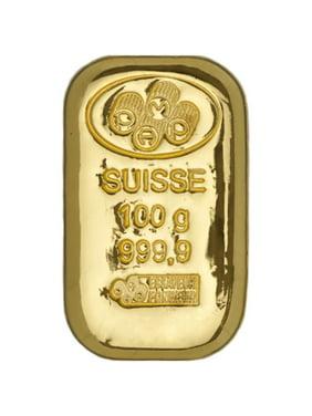 Pamp Suisse 100 Gram Cast Gold Bar