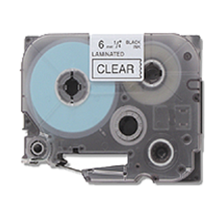 """Zoomtoner Compatible for Brother PT2030VP BROTHER TZE-111 P-Touch Label Tape - 1/4"""" x 26' Black on Clear - image 1 of 1"""
