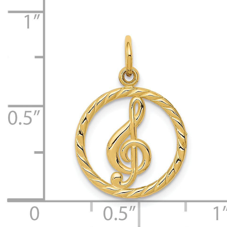 14K Yellow Gold Treble Clef Charm - image 1 of 2