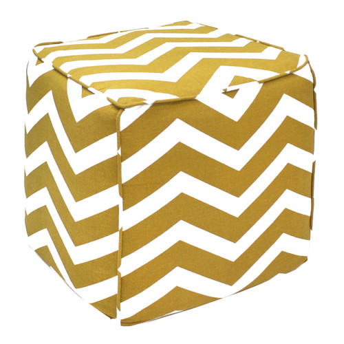 Divine Designs Chevron Pouf