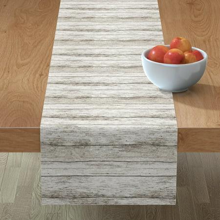 Table Runner Wood Grain Light Brown Modern Home Woodgrain