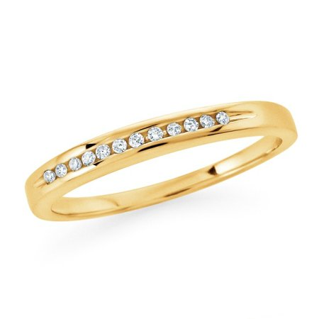 1/10 Carat Round Diamond Channel Set Band in Sterling Silver (I-J/I2-I3)
