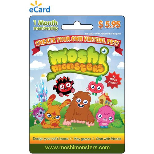 Mind Candy Moshi Monsters 1 month Game eCard $5.95 (Email Delivery)