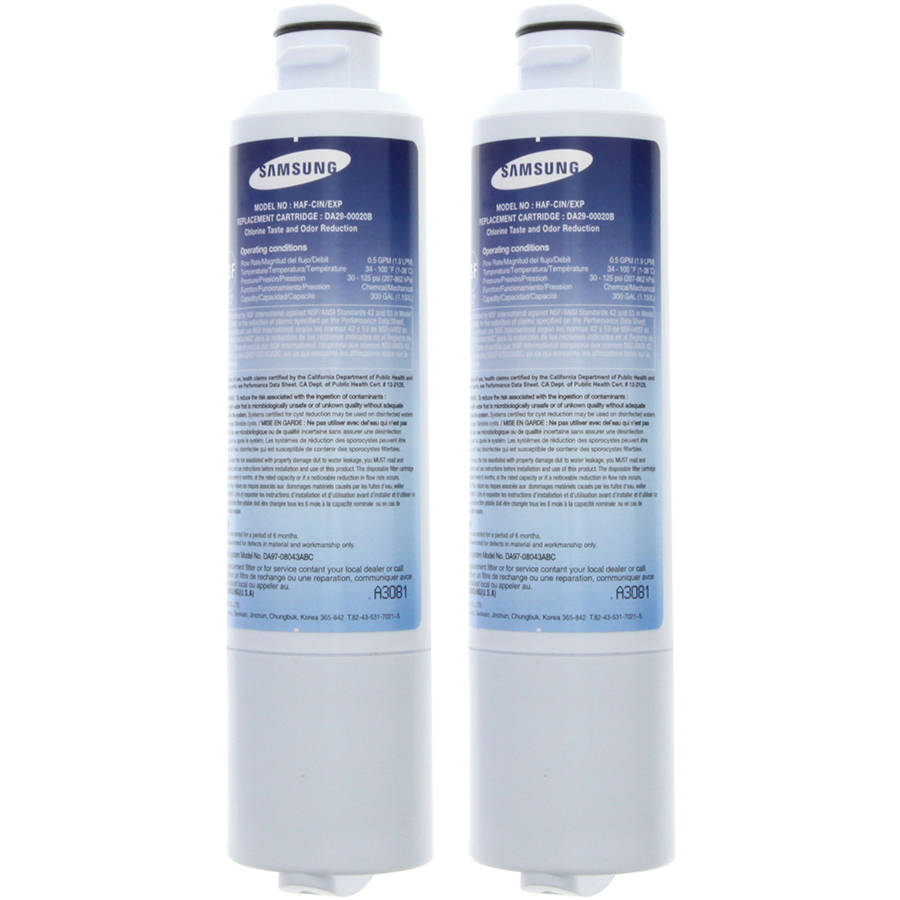 Samsung DA29-00020B Aqua-True Plus Refrigerator Water Filter, 2-Pack