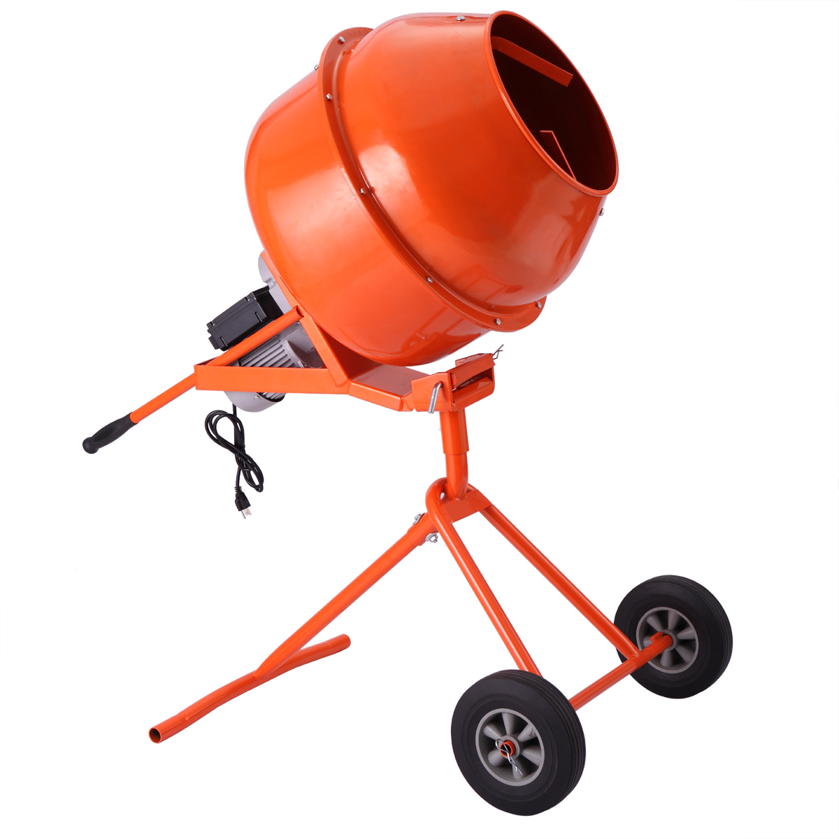 Lazymoon Portable 5Cuft 1 2HP Electric Concrete Cement Mixer Barrow Machine Mixing Mortar by Lazymoon