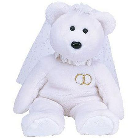 Wading Staff - TY Beanie Buddy - MRS the Wedding Bear (14 inch)