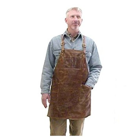 Moonshine Leather Co. - Cross-Back Pocketed Workshop Cowhide Leather Apron - Bladesmith, Forging, Blacksmith, Woodcarver, Watchmaker, Engraver, Farrier - Made in the USA (Regular)