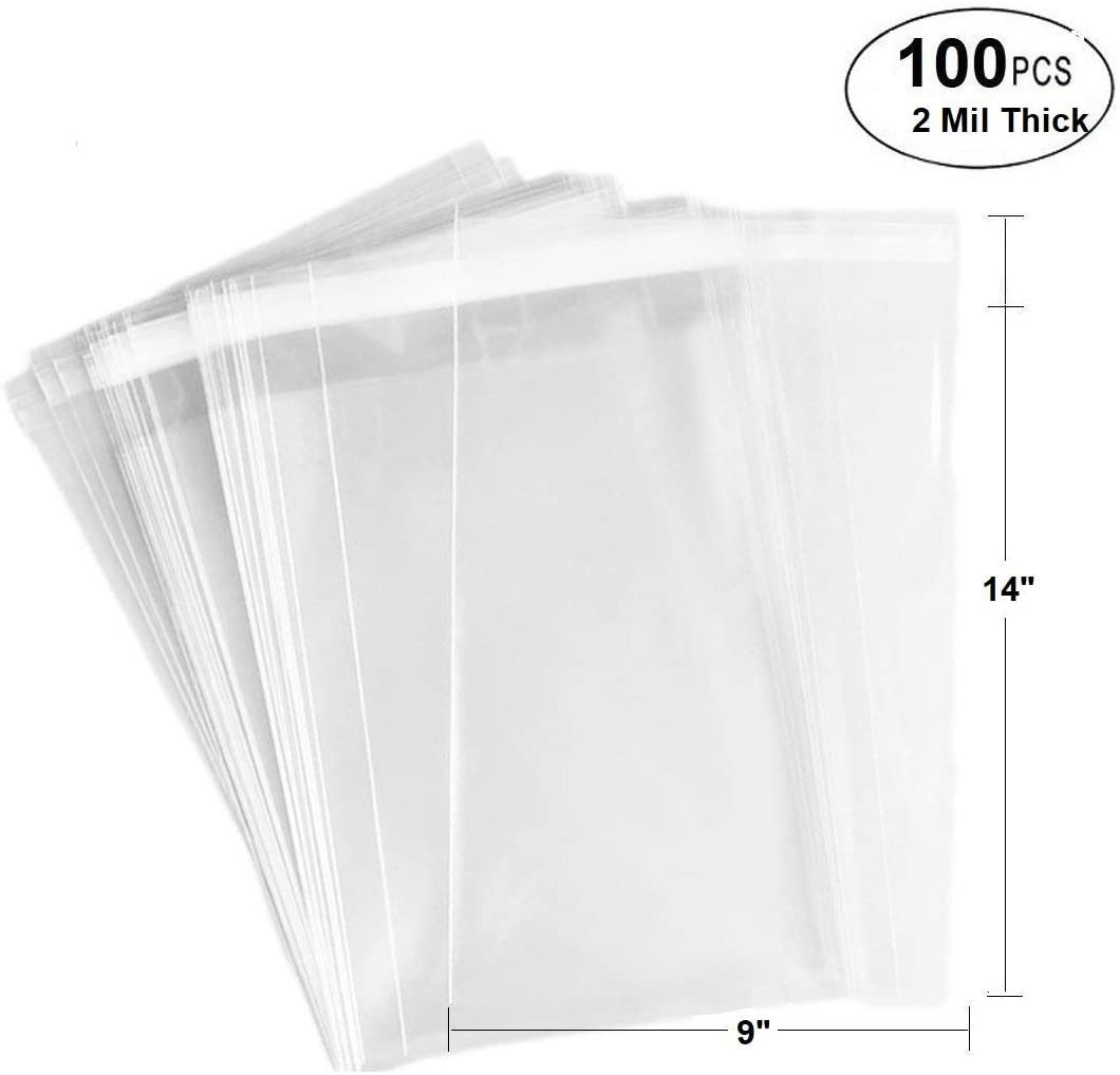 """Self Adhesive Resealable 11/"""" x 14/"""" Clear Plastic Cellophane Poly Bags//Packaging"""