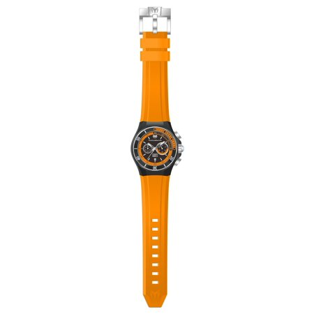 Technomarine TM-115161 Men's Cruise Sport Black Dial Orange Silicone Strap Dive