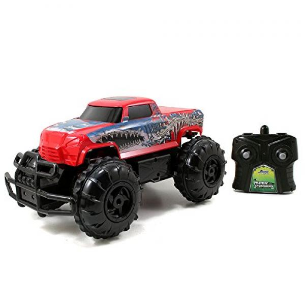 Jada Toys HyperChargers 1:16 Water and Land R/C Vehicle, Red