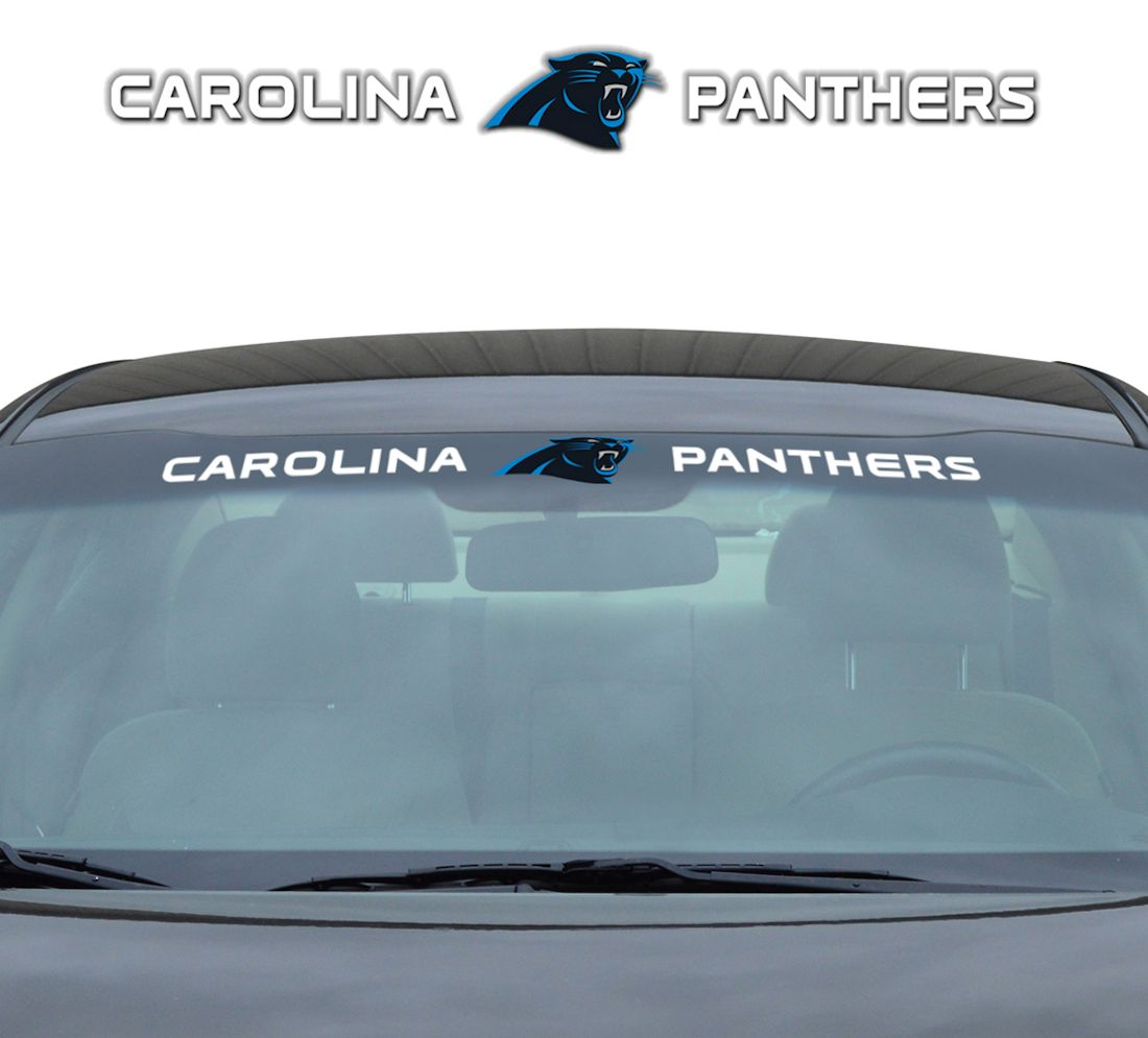 "Carolina Panthers 35""x4"" Windshield Decal"