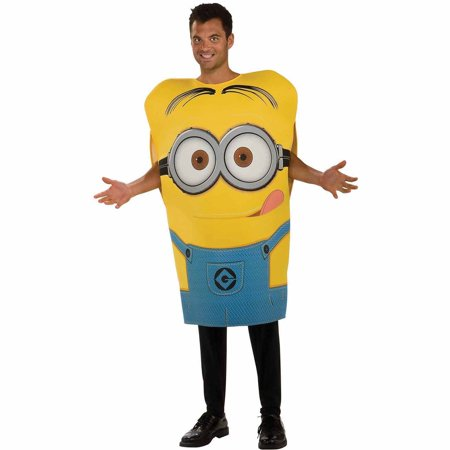 Despicable Me 2 Dave Minion Adult Halloween Costume](Homemade Minion Costume For Adults)