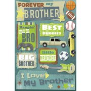 Cardstock Stickers-Forever My Brother