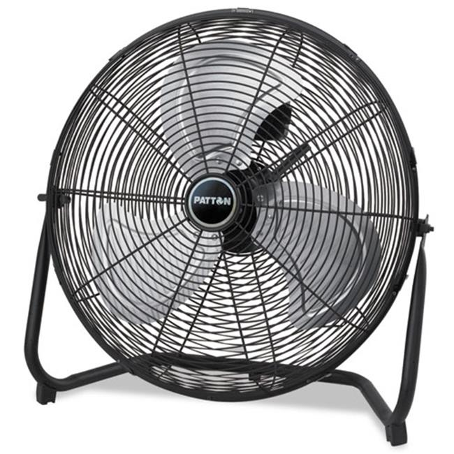 Patton PUF2010CBM 8. 58 W x 22. 83 H inch Three-Speed High Velocity Fan - Black