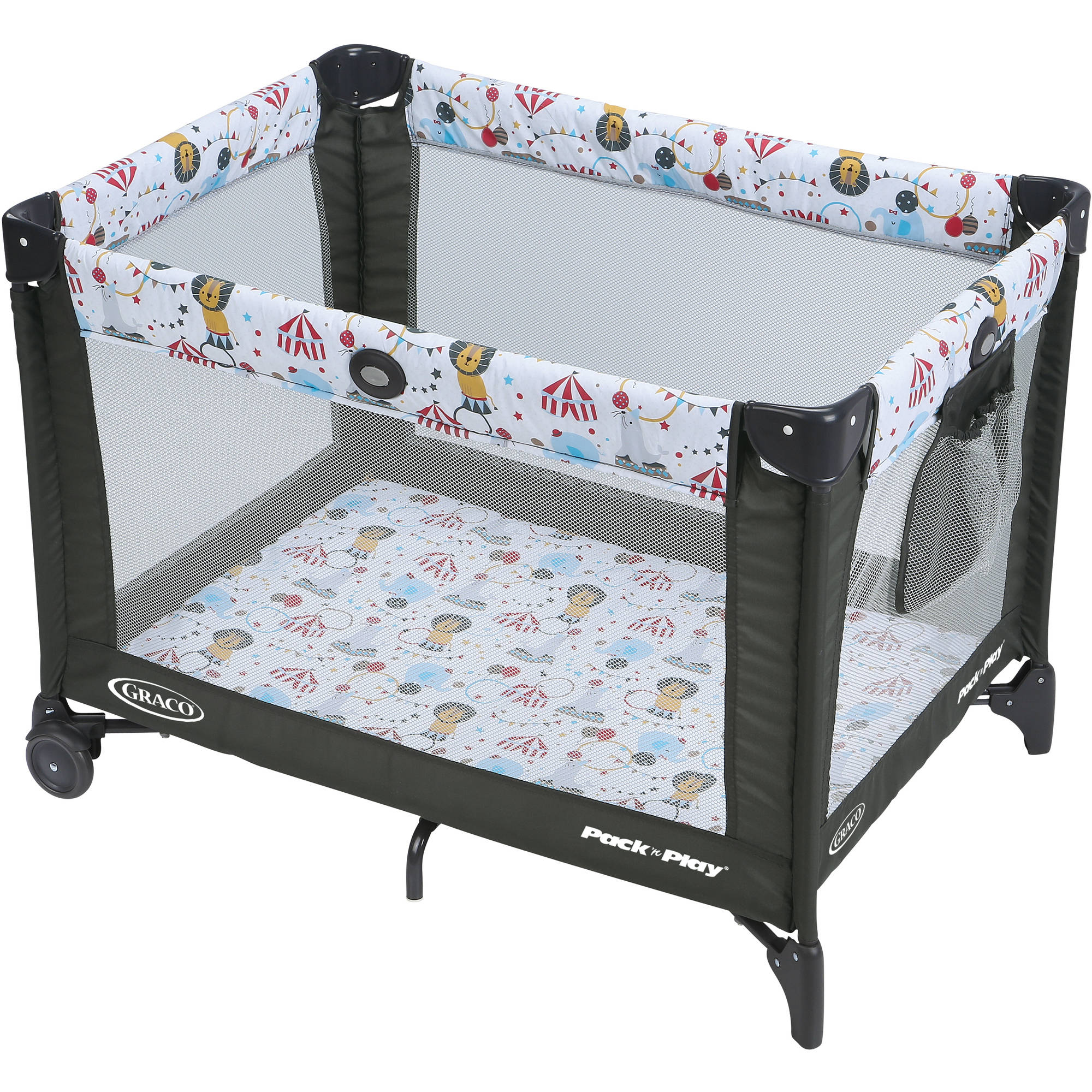 Graco Pack 'n Play Playard On the Go with Folding Feet, Circus Time