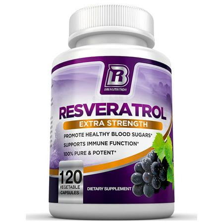 BRI Nutrition Resveratrol Antioxidant 1200 mg Capsule - 120 Veggie Capsules