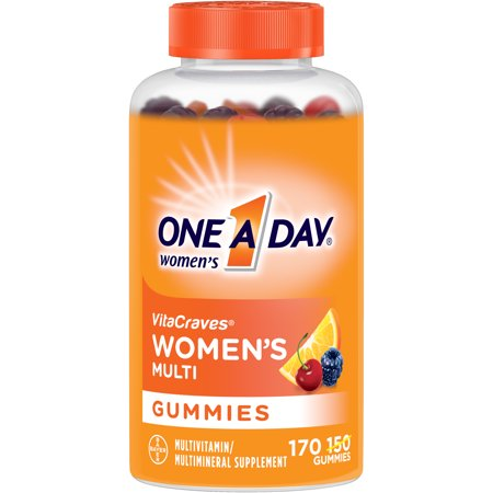 One A Day Women's VitaCraves Multivitamin Gummies, Supplement with Vitamins A, C, E, B6, B12, Calcium, and Vitamin D, 170