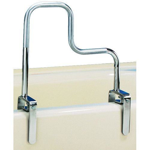 Carex Tri-Grip Bathtub Safety Rail Grab Bar with Chrome Finish
