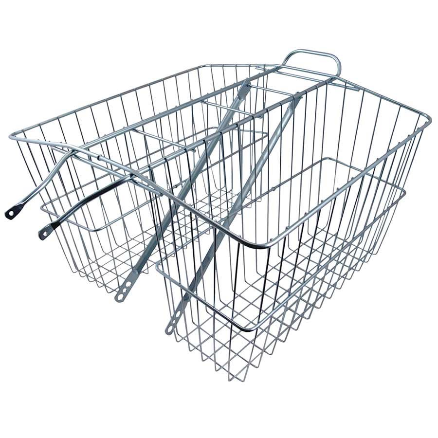 Basket Wald 535 Twin Rear Rack, Large, 18x7x12