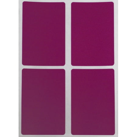 Color Stickers with Write on Surface 3x2 - Rectangle Inventory Labels 7.5cm x 5cm in Purple - 60 Pack by Royal Green