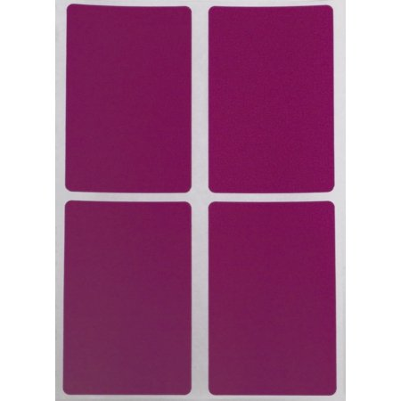 - Color Stickers with Write on Surface 3x2 - Rectangle Inventory Labels 7.5cm x 5cm in Purple - 60 Pack by Royal Green