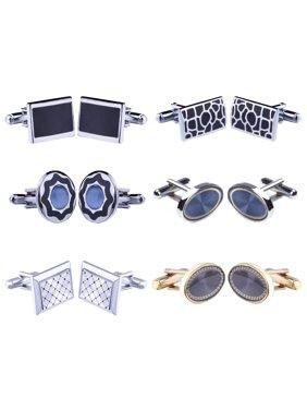 073cd406a Product Image Cufflink 12 Pairs Two Tone Classy Stylish Men s Cuff Links  Elegant Gift Box