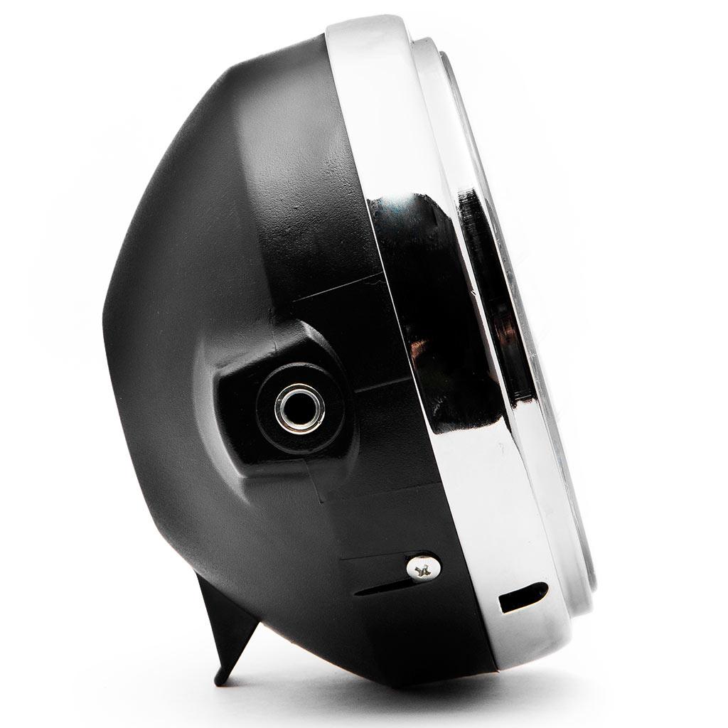 Krator 7.75'' Chrome Headlight H4 Bulb Round Lamp for Harley Davidson Screamin Eagle - image 3 of 6