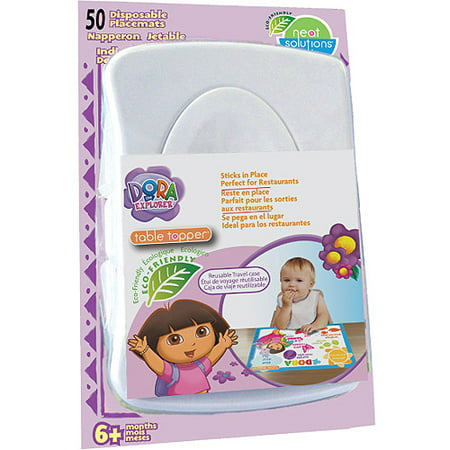 Neat Solutions Dora the Explorer Table Topper Disposable Stick-On Placemats, 50-Count