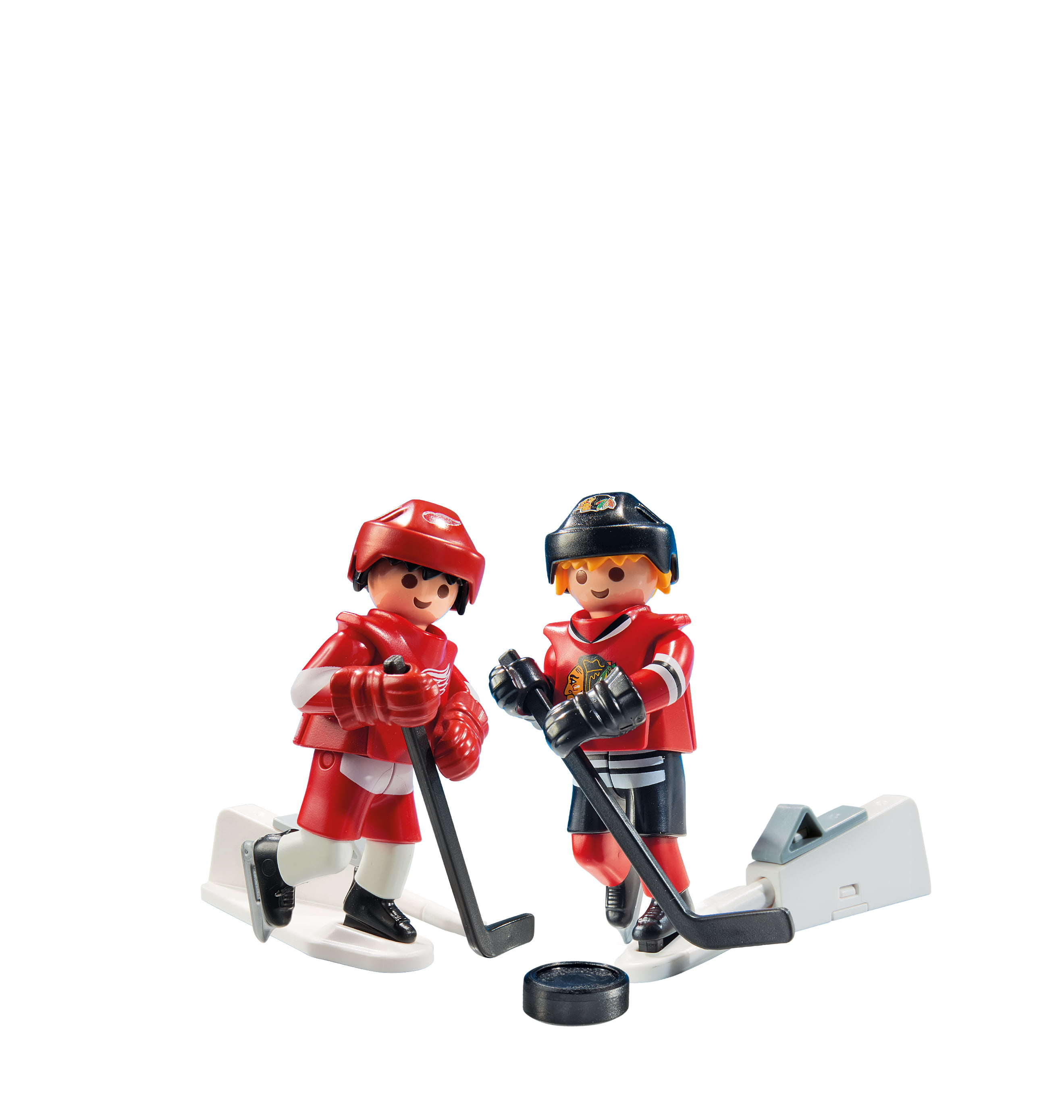 playmobil nhl rivalry series  chi vs det pack action