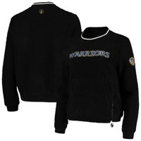 Golden State Warriors FISLL Women's Sherpa Pullover Jacket with Zipper Detail - Black