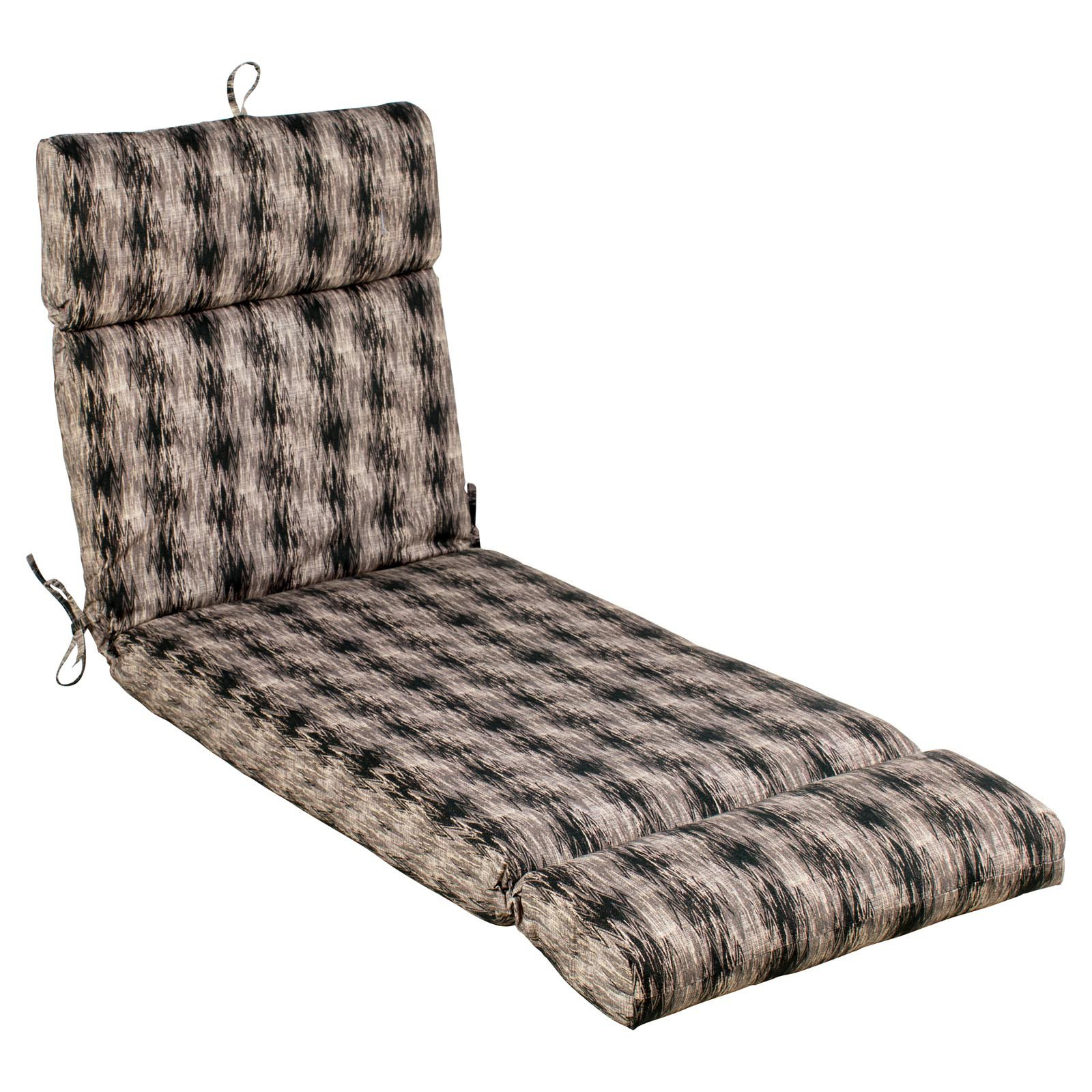 Coral Coast Mudcloth French Edge Outdoor Chaise Lounge Cushion