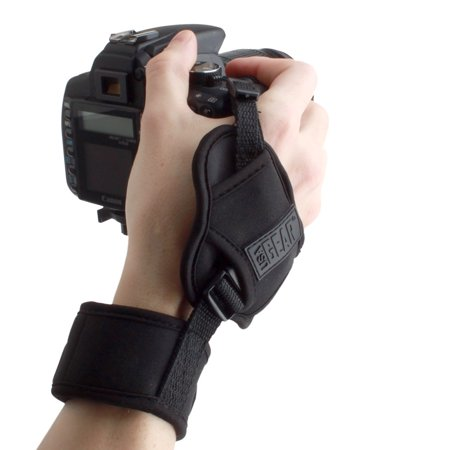 Panasonic Dslr Camera - Camera Wrist Hand Strap with Comfortable Neoprene Design and Secure Metal Plate by USA Gear - Works with Canon , Nikon , Fujifilm , Sony , Panasonic and More DSLR , Mirrorless Cameras