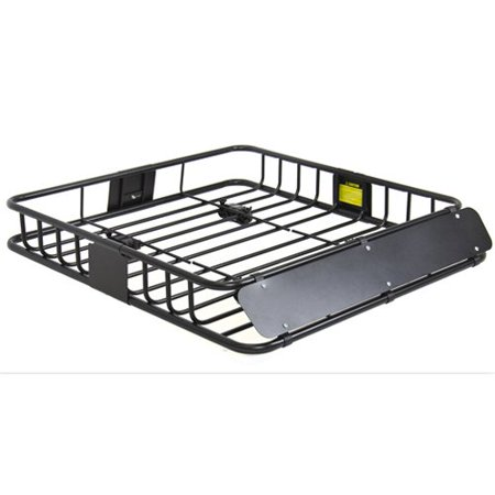 Best Choice Products SKY1515 Universal Roof Rack (Cargo Car Top Luggage Carrier Basket Traveling SUV