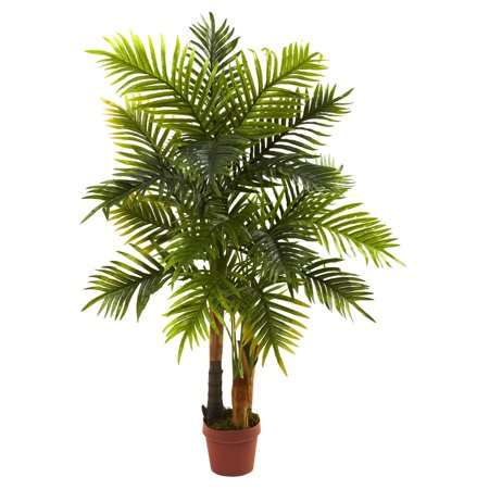 Palm Tree Rocker (Nearly Natural 4' Areca Palm Tree, Real Touch Feel)