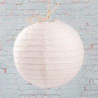 "Richland Paper Lanterns Round Chinese White  8"" Set of 10"