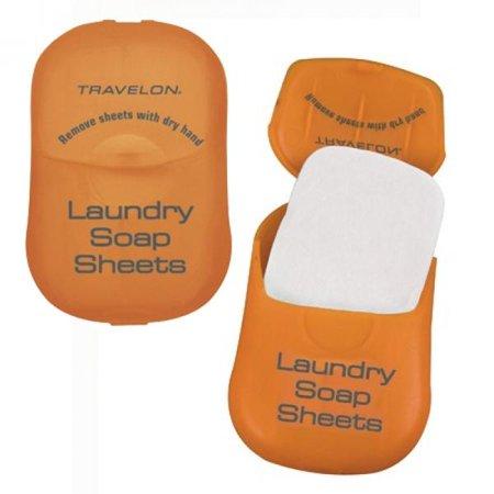 Travelon TSA Compliant 2-Pk Laundry Soap Sheets (Soap Bed)