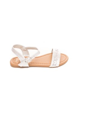 29bedffef98e44 Product Image Girls Glitter Double Strap Sandals