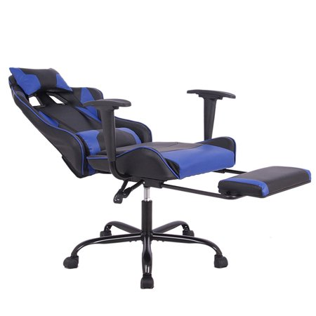 Gaming Chair Racing Style High Back Office Lumbar Support And Headrest