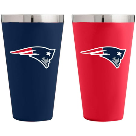 New England Patriots Team Color 2-Pack Stainless Steel Pint Glass - No Size Nfl Pint Glasses