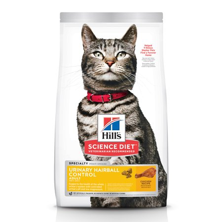 Hill's Science Diet Adult Urinary & Hairball Control Chicken Recipe Dry Cat Food, 15.5 lb