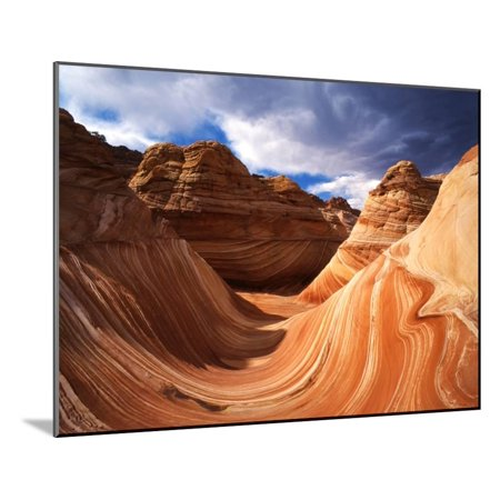Coyotes Wood (The Wave Formation in Coyote Buttes, Paria Canyon, Arizona, USA Wood Mounted Print Wall Art By Adam Jones )
