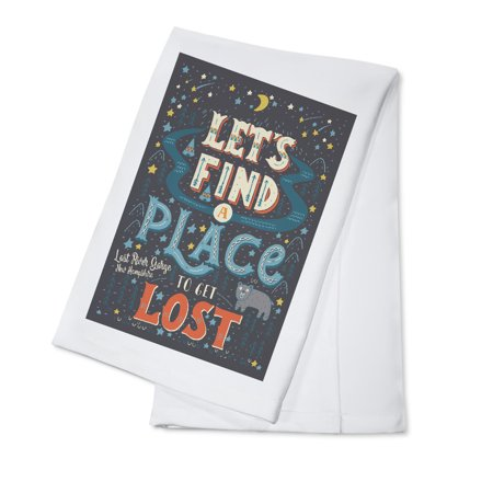 Lost River Gorge & Boulder Caves, New Hampshire - Lets Find a Place to Get Lost - Lantern Press Artwork (100% Cotton Kitchen - Best Place To Get School Supplies