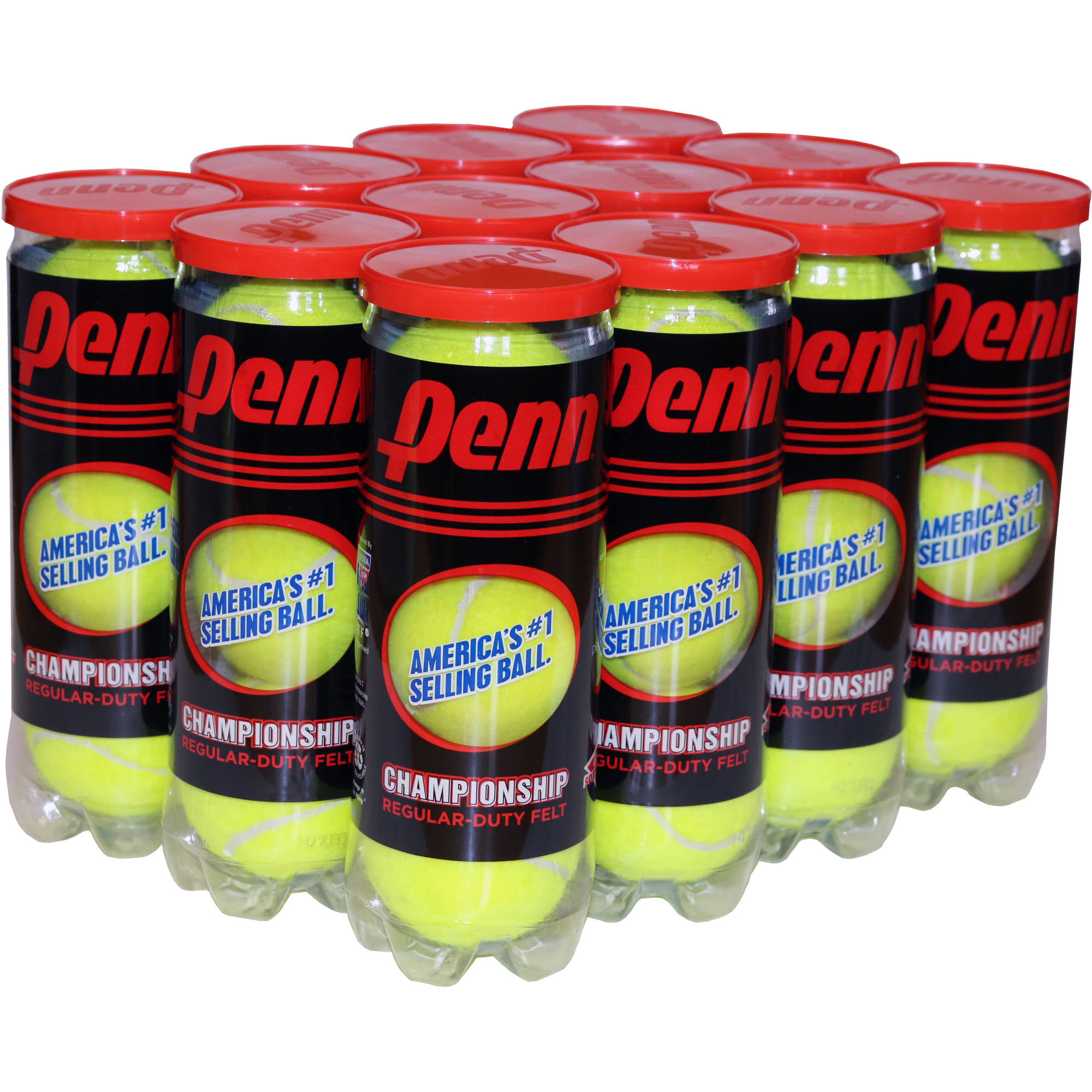 Penn Championship Regular Duty Tennis Ball Case (12 cans, 36 balls)