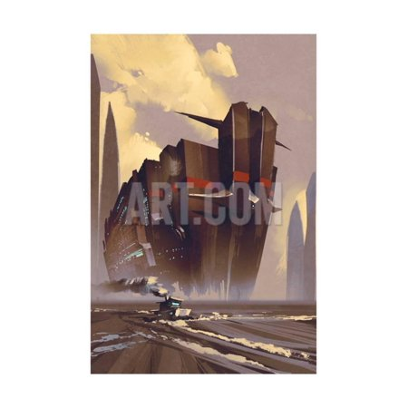 Futuristic Ocean Liner,Sci-Fi Concept,Illustration Digital Painting Print Wall Art By Tithi (Sci Fi Concept Art In Photoshop And Maya)