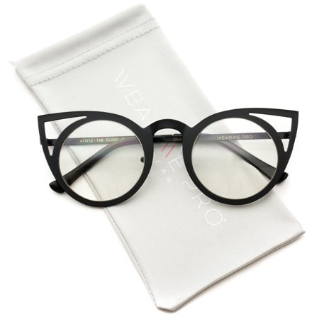 f0d22b55804 Non Prescription Round Circle Frame Clear Lens Glasses Silver. Round Cat  Eye Clear Non Prescription Glasses