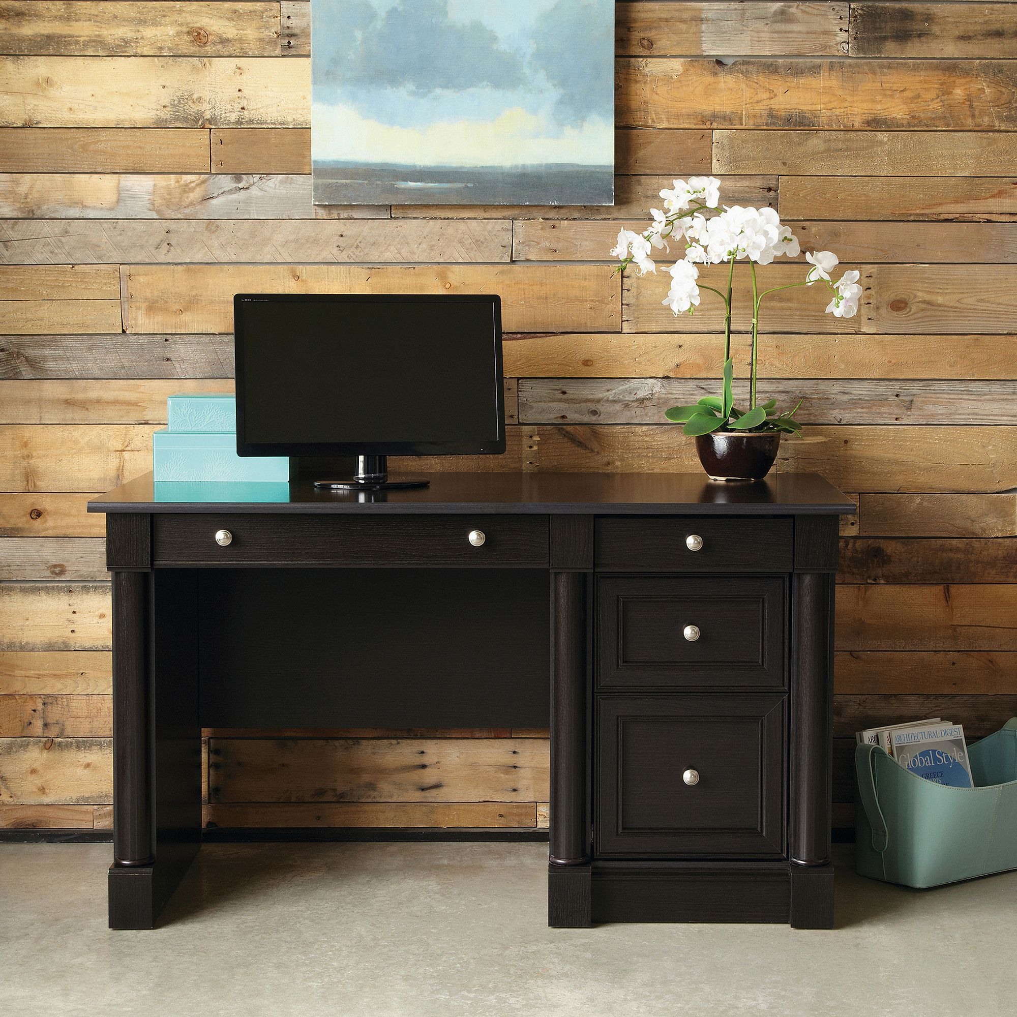 simple design plus contemporary desk your decor furniture computer table lamp office wood sauder storage for ideas and cozy room with staples